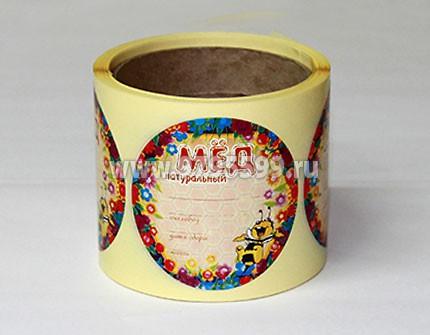 Мед натуральный, 200шт., дизайн 2