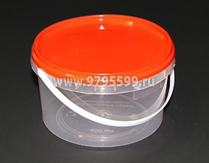 Ведро пластиковое 0,4 л, с контрольным замком
