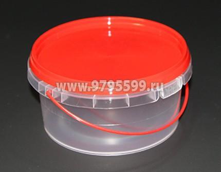 Ведро пластиковое 0,5 л, с контрольным замком