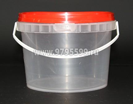 Ведро пластиковое 0,87 л, с контрольным замком