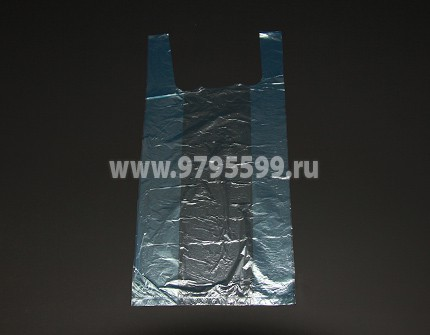 Пакет-майка, 20х40, синий