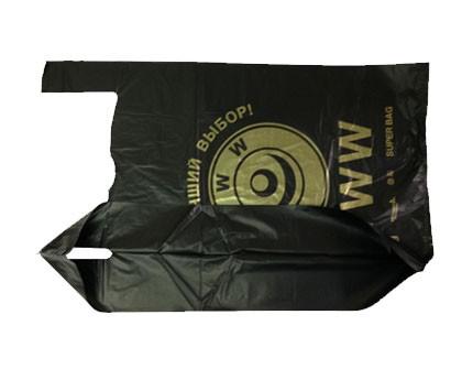 Пакет-майка WWW, 40x69, черный