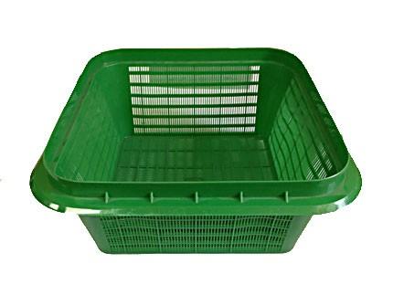 Пластиковый контейнер сетчатый, конусный