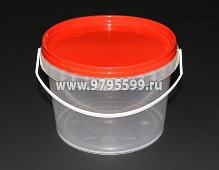 Ведро пластиковое 0,8 л (Бр) , с контрольным замком