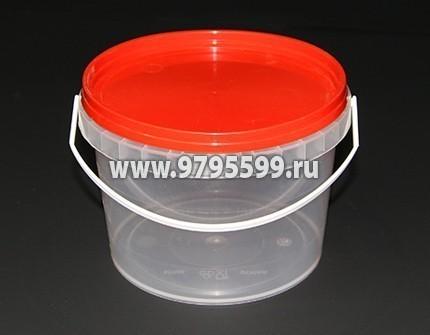 Ведро пластиковое 0,8 л (НН), с контрольным замком