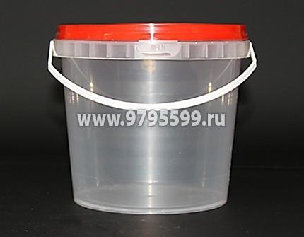 Ведро пластиковое 1,0 л (НН)