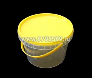 Ведро пластиковое 0,5 л, с контрольным замком (ТП)