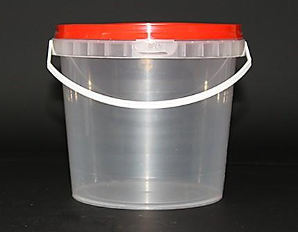 Ведро пластиковое 1,0 л (Бр)
