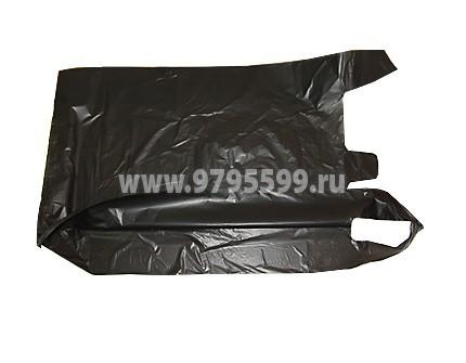 Пакет-майка, 43x64, черный