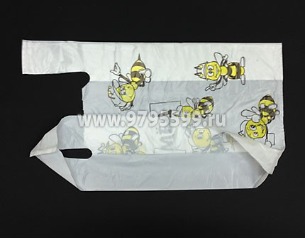 "Пакет-майка ""Пчелка-Мед"", 28x50, белый"