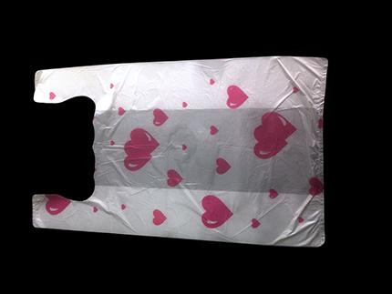 """Пакет-майка """"Сердца"""", 28х50, белый"""